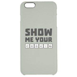 Show me your cookies nerd Zh454 Clear iPhone 6 Plus Case