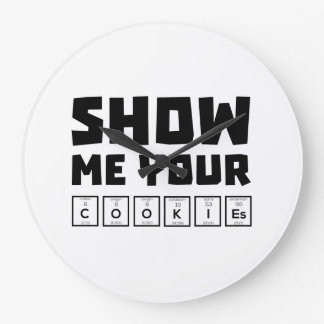 Show me your cookies nerd Zh454 Clock
