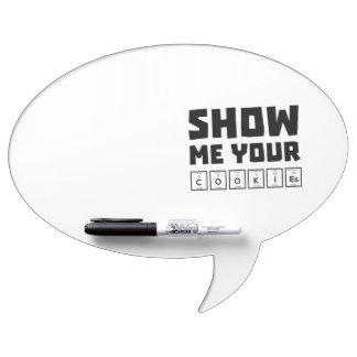 Show me your cookies nerd Zh454 Dry Erase Board