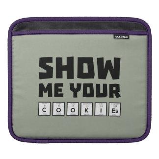 Show me your cookies nerd Zh454 iPad Sleeves