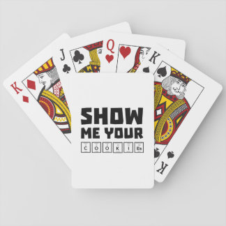 Show me your cookies nerd Zh454 Playing Cards