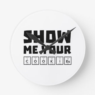 Show me your cookies nerd Zh454 Wallclocks