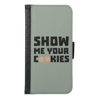 Show me your Cookies Z64x4 Samsung Galaxy S6 Wallet Case