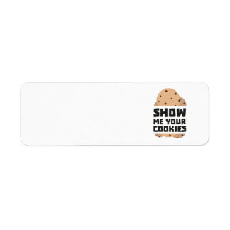 Show me your Cookies Znwm6 Return Address Label