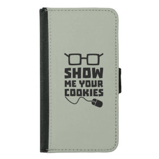 Show me your Cookies Zx363 Samsung Galaxy S5 Wallet Case