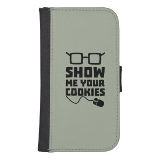 Show me your Cookies Zx363 Samsung S4 Wallet Case