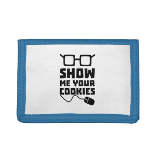 Show me your Cookies Zx363 Tri-fold Wallet
