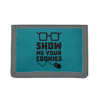 Show me your Cookies Zx363 Trifold Wallets