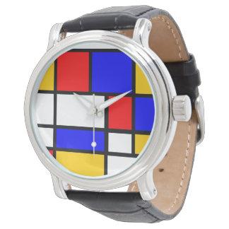 Show Mondrian style Wrist Watches