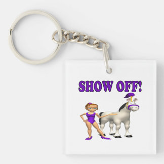 Show Off Single-Sided Square Acrylic Keychain