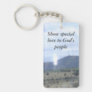 show special love to Gods people double sided key Double-Sided Rectangular Acrylic Keychain