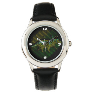 Show Stainless steel black Dinosaure Watch