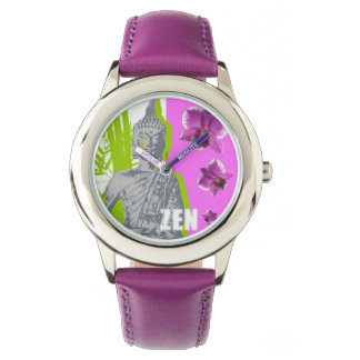Show Stainless steel purple ZEN Watch