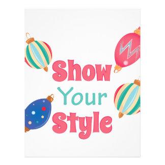 Show Style Letterhead Template