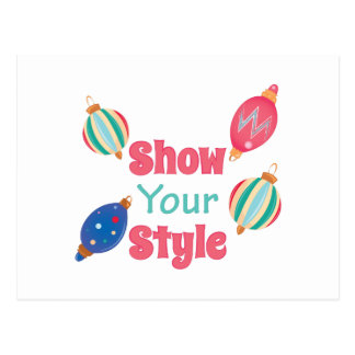 Show Style Postcard
