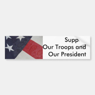 Show support for our nation & the fight on terror bumper sticker