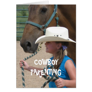 Show & Tell Day - Cowboy Parenting Card