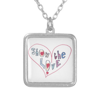 Show the Love Silver Plated Necklace