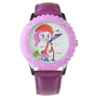 Show the small artist of Paris Wristwatches