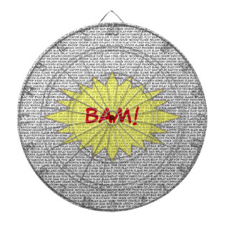 Show them how it's done BAM! Bullseye Dartboard