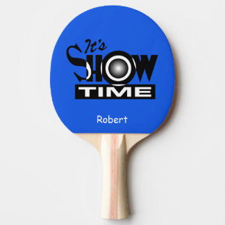 Show Time Name Personalized Ping Pong Paddle