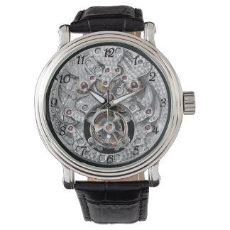 Show with apparent mechanism watch