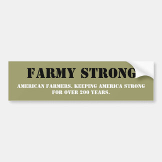 Show Your Appreciation for American Farmers Bumper Sticker