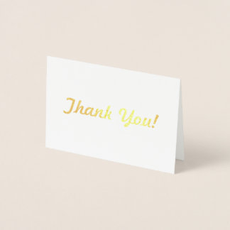 Show Your appreciation with a beautiful Thank You! Foil Card