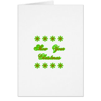 Show Your Christmas jGibney The MUSEUM Zazzle Gift Card