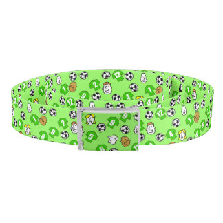 Show your football team's colours - green shirts belt