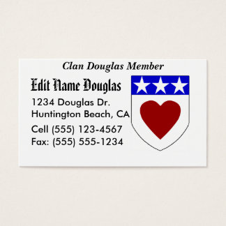 Show your pride! Clan Douglas Business Cards!... Business Card