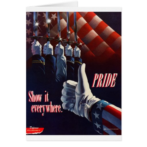SHOW YOUR PRIDE IN OUR MILITARY GREETING CARDS