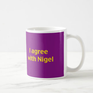 Show your support for Nigel and you kip! Coffee Mug