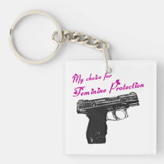 Show your support of our 2nd amendment in U.S.A. Single-Sided Square Acrylic Keychain
