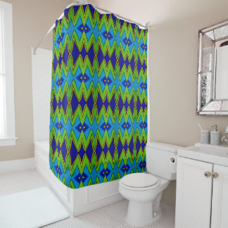 Shower Curtain - 003 - Blue and Green