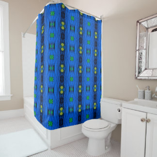 Shower Curtain - 026 - Blue and Green