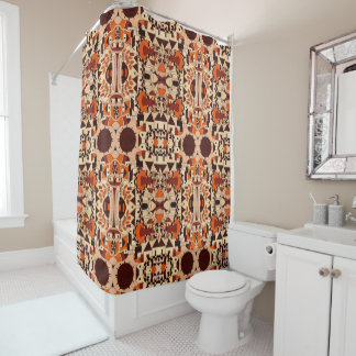 Shower Curtain - 051 - Abstract Orange-Brown