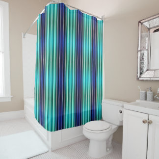 Shower Curtain - 080 - Blue and Turquoise