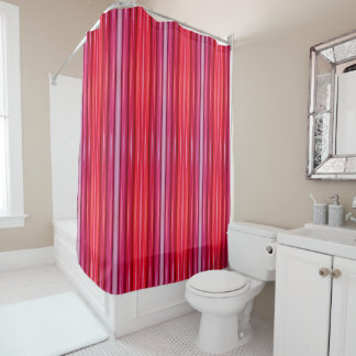 Shower Curtain - 084 - Pink and Red Shades