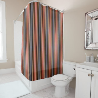 Shower Curtain - 085 - Brown and Orange