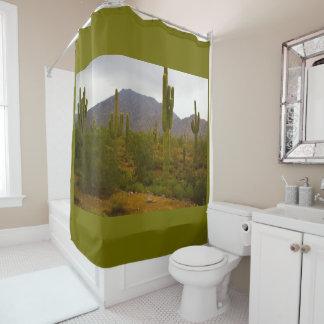 Shower Curtain Bright Sahuaro Cacti