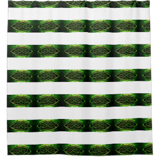 Shower curtain, Celtic knot, multicolored, green