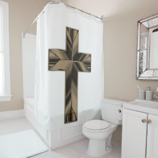 Shower curtain Cross