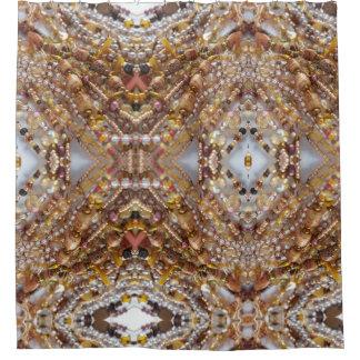 Shower Curtain- Earth Tones Bead Print