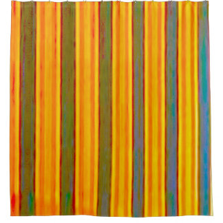 Shower Curtain - Faded Vertical Stripes