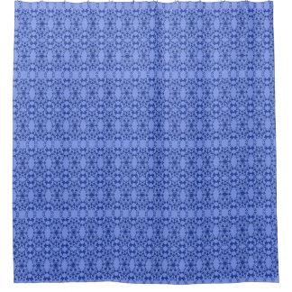 Shower Curtain--Floral Blue On Blue