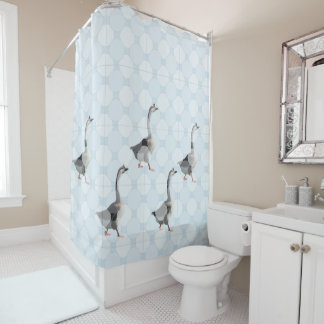Shower Curtain - Geese and Dots