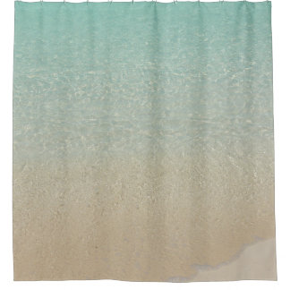 SHOWER CURTAIN, GIN-CLEAR TURQUOISE CARIBBEAN