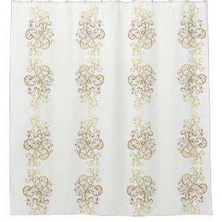 Shower Curtain--Gold Swirls