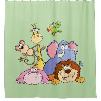 Shower Curtain--Jungle Animals